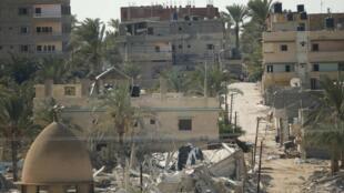 La devastada ciudad de Gaza debía acoger el martes los actos de conmemoración del décimo aniversario de la muerte de Arafat.