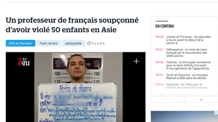 O caso foi revelado pelo jornal Le Parisien, que publica imagem do professor francês quando ele foi preso em flagrante, em fevereiro passado, na Tailândia.