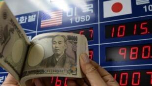 圖為韓國股市彙價及韓幣