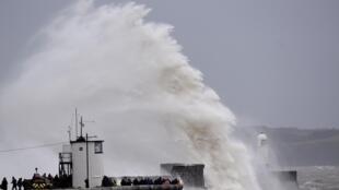 """Шторм у берегов Южного Уэльса, вызванный ураганом """"Деннис"""", 16 февраля 2020 г."""