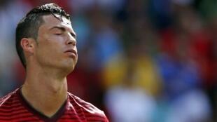 Cristiano Ronaldo durante a partida contra a Alemanha. Portugal perdeu por 4 a 0.