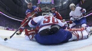 Фрагмент матча Россия-Норвегия