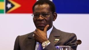 Teodoro Obiang, Presidente da Guiné Equatorial desde 1979.