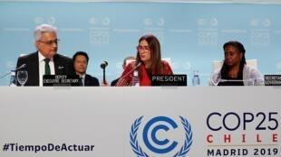 Séance de clôture de la COP25 à Madrid, le 15 décembre 2019.
