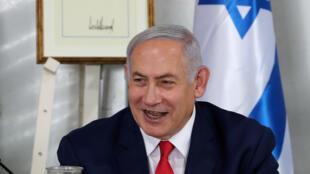 O primeiro-ministro israelense Benjamin Netanyahu, em junho