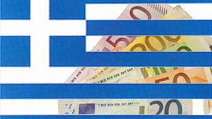 Greece's debts are affecting the value of the risk-sensitive currency euro