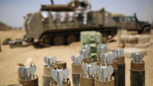 Armas israelenses em Gaza 30 de julho de 2014.