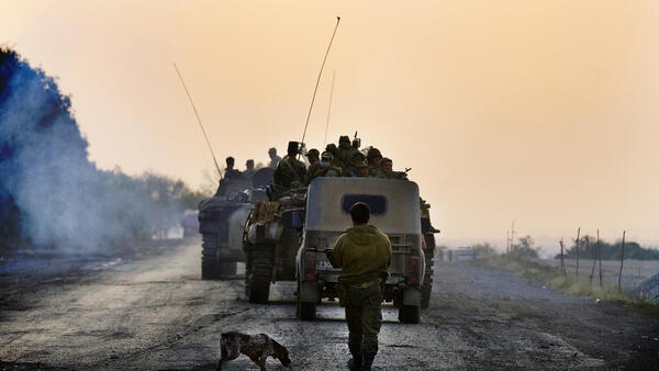 Российские войска покидают территорию Грузии, 22 августа 2008 г.
