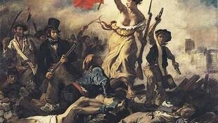 Liberty leading the people, painted by Eugène Delacroix 114 years before French women won the vote