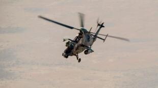 Un hélicoptère tigre français déployé dans le cadre de l'opération Barkhane au Sahel, le 8 février 2019.