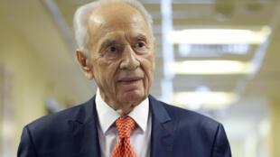 L'ancien président israélien Shimon Peres, ici en janvier 2016.