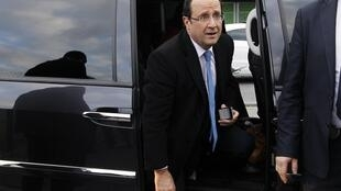 François Hollande, Socialist Party candidate for presidential election