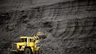 Une mine de charbon.
