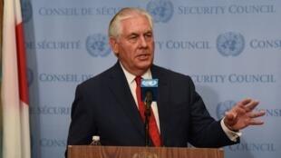 美國國務卿蒂勒森15日在聯合國演說