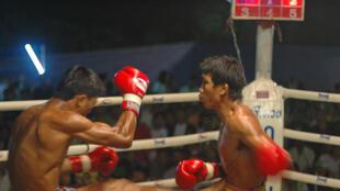 Un combat de muay-thaï.