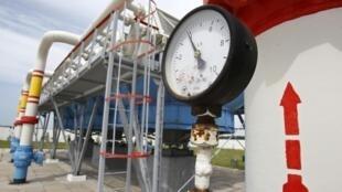 Une station d'un gazoduc, à Mryn, près de Kiev.