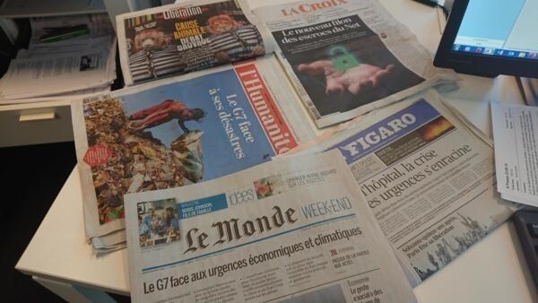 Diários franceses 23 08 2019