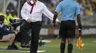 South Africa's coach Gordon Igesund during the match against Morocco, 27 January