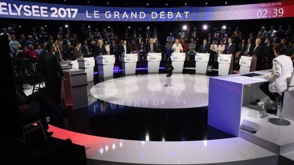 Debate televisivo juntou os 11 candidatos às presidenciais em França