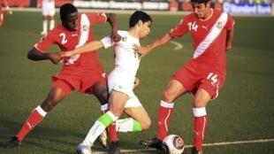 Lors d'Algérie-Tunisie en demi-finale du CHAN 2011.