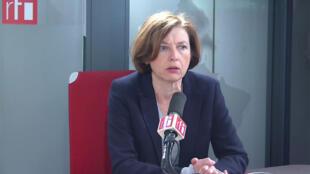 Florence Parly, ministra francesa do exéricito, na RFI a 14 de Janeiro de 2020.
