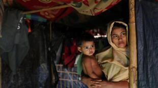 Một phụ nữ Rohingya tại trại tị nạn Kutupalong ở Bangladesh. Ảnh chụp ngày 19/01/2018.