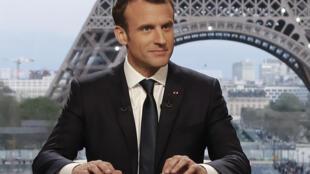 Tổng thống Emmanuel Macron trả lời phỏng vấn RMC-BFMTV và Mediapart, Paris, ngày 15/04/2018.