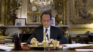 It will be work, work, work for François Hollande this Christmas.