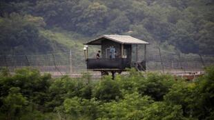 Poste de garde sud-coréen à la frontière à Paju, le 20 juin 2019.