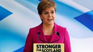 Scotland's First Minister Nicola Sturgeon speaks during the SNP general election campaign launch in Edinburgh, Scotland, 8 November 2019