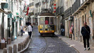 Tramway à Lisbonne.