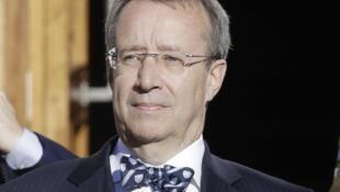 Президент Эстонии Тоомас Хендрик Ильвес 03/09/2014