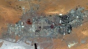 Satellite image of the In Amenas gas site in Algeria, where workers are being held hostage.