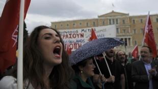 Biểu tình tại Athens ngày 22/05/2016, phản đối những biện pháp khắc khổ mới, tăng thuế của chính phủ