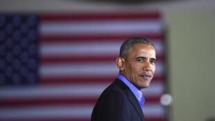 Barack Obama apporte son soutien au candidat démocrate Jim Murphy au poste de gouverneur (archive). Newark, New Jersey, le 19 octobre 2017.