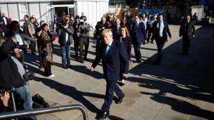 Thủ tướng Anh Boris Johnson tới dự đại hội đảng Bảo Thủ tại Manchester, ngày 02/10/2019.