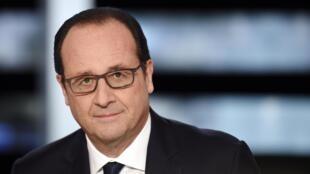 François Hollande antes de su entrevista televisiva, este 6 de noviembre de 2014.