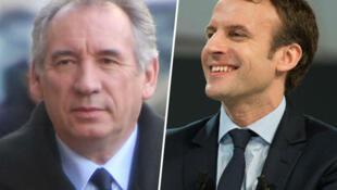 François Bayrou  and Emmanuel Macron