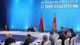 «Большой разговор с президентом» Александром Лукашенко продолжался почти семь часов 1 марта 2019.