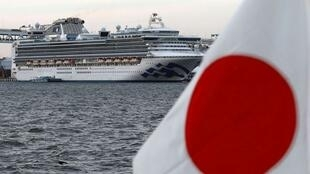 Over 400 passengers remain quarantined onboard a cruise ship off the coast of Japan due to the coronavirus outbreak, February 2020.