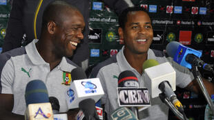 Clarence Seedorf (left) and Patrick Kluivert will steer Cameroon's defence of their Africa Cup of Nations title.