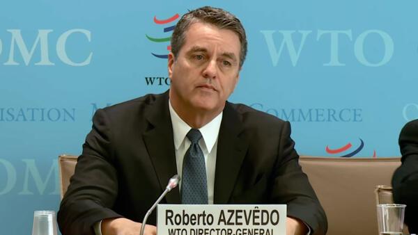 O diretor-geral da Organização Mundial do Comércio (OMC), Roberto Azevêdo.