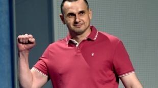 Украинский режиссер Олег Сенцов во время пресс-конференции 7 сентября