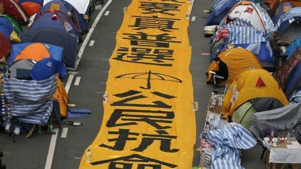 支持香港佔中,大陸逾百人被被捕。
