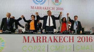 វេទិកាសន្និសីទអាកាសធាតុ COP22 នៅMarrakech ប្រទេសម៉ារ៉ុក ថ្ងៃទី ១៧ វិច្ឆិកា ២០១៦