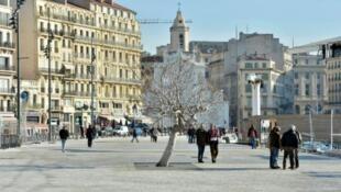 Le quartier du Vieux-Port, le 7 janvier 2013, à Marseille.