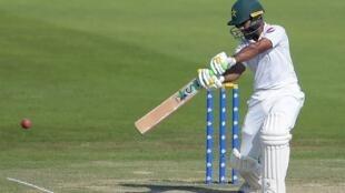 Pakistani batsman Asad Shafiq in action against New Zealand in Abu Dhabi.
