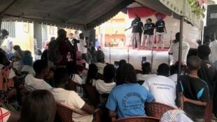 Thespians perform a play promoting religious tolerance in Senegal's capital, Dakar.
