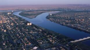 Vue aérienne de Khartoum, Soudan. (image d'illustration)