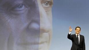 Nicolas Sarkozy  at his campaign rally in Marseille, 19 February, 2012